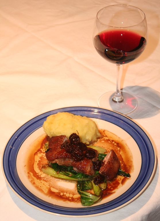 Birthday Dinner – Duck Breast with Port and Cherry Sauce