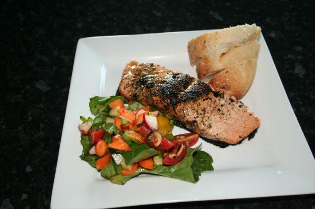 Fresh Salmon on the BBQ