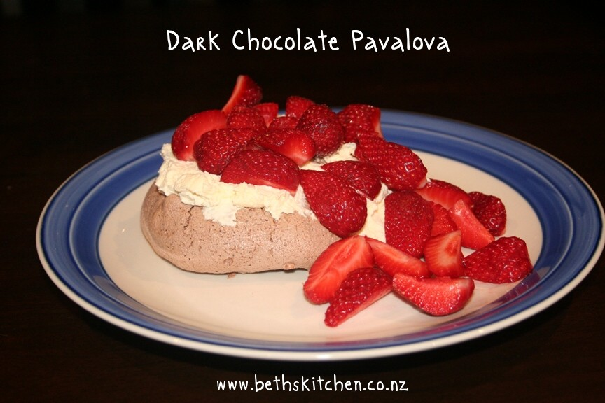 Dark Chocolate Pavlova